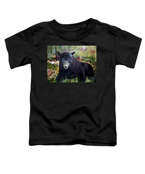 Bear Painting - Blackberry Patch - Wildlife Toddler T-Shirt