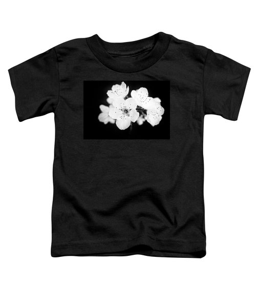 Beautiful Blossoms In Black And White Toddler T-Shirt