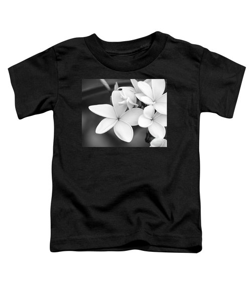 Beautiful Plumeria In Black And White Toddler T-Shirt