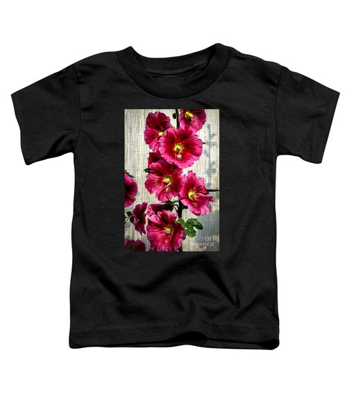 Beautiful Red Hollyhock Toddler T-Shirt