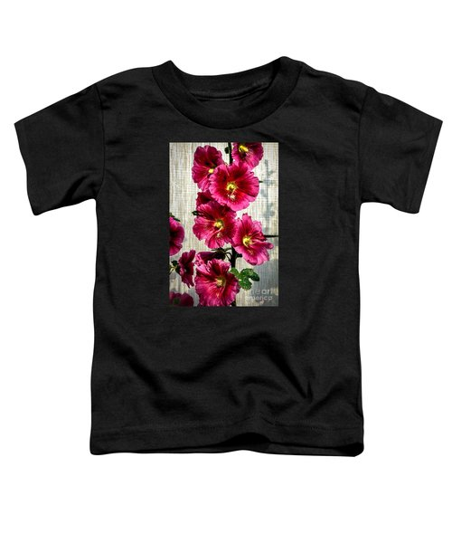 Beautiful Red Hollyhock Toddler T-Shirt