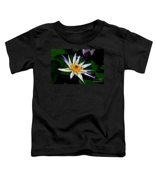 Beautiful Violet White And Yellow Water Lily Flower Toddler T-Shirt