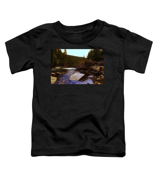 Beautiful Yak River Montana Toddler T-Shirt by Jeff Swan