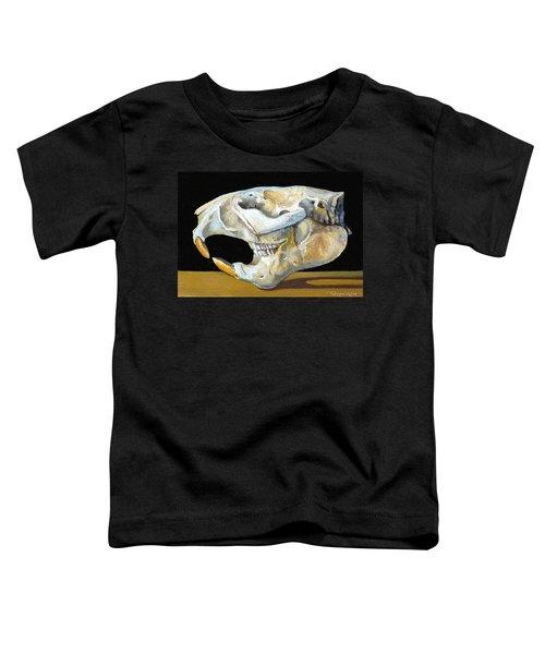 Beaver Skull 1 Toddler T-Shirt by Catherine Twomey