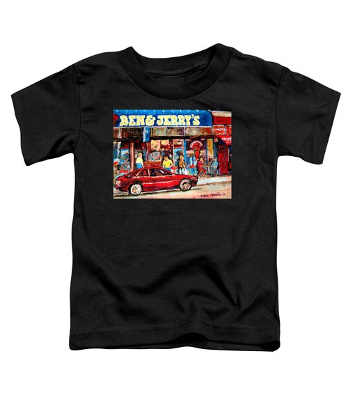 Ben And Jerrys Ice Cream Parlor Toddler T-Shirt