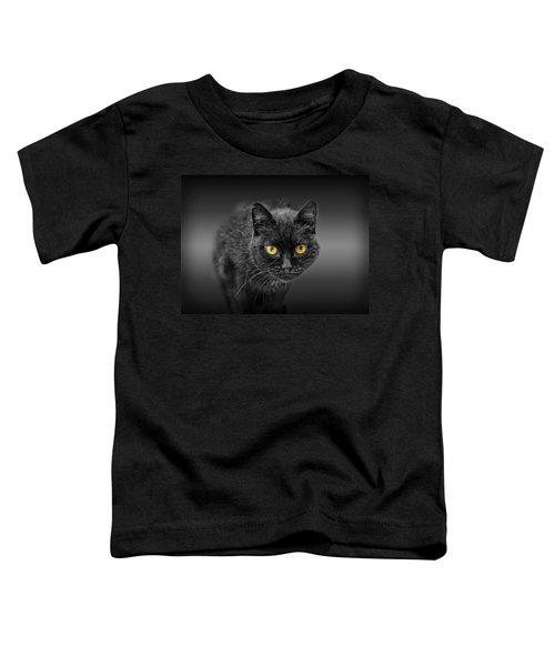 Black Cat Toddler T-Shirt