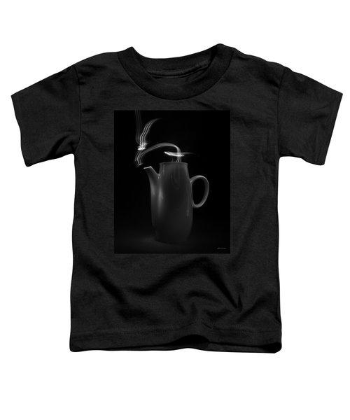 Black Coffee Pot - Light Painting Toddler T-Shirt