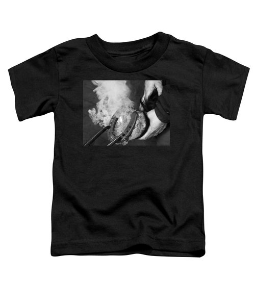 Blacksmith With Horseshoe - Traditional Craft Toddler T-Shirt
