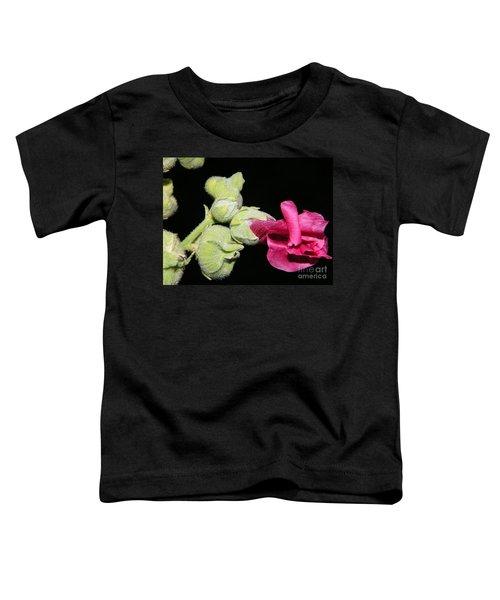 Blooming Pink Hollyhock Toddler T-Shirt