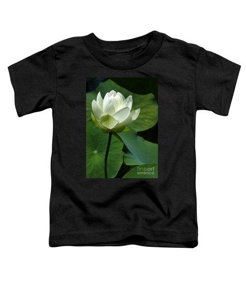 Blooming White Lotus Toddler T-Shirt