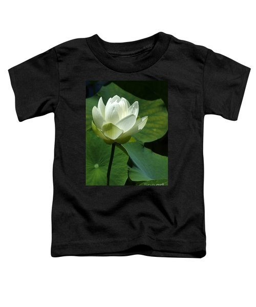 Blooming White Lotus Toddler T-Shirt