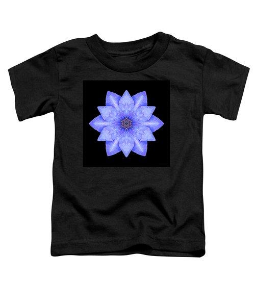 Blue Clematis Flower Mandala Toddler T-Shirt