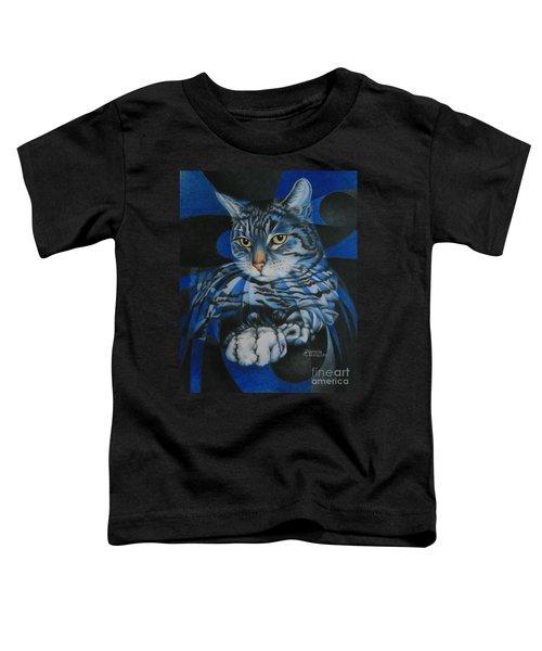 Blue Feline Geometry Toddler T-Shirt