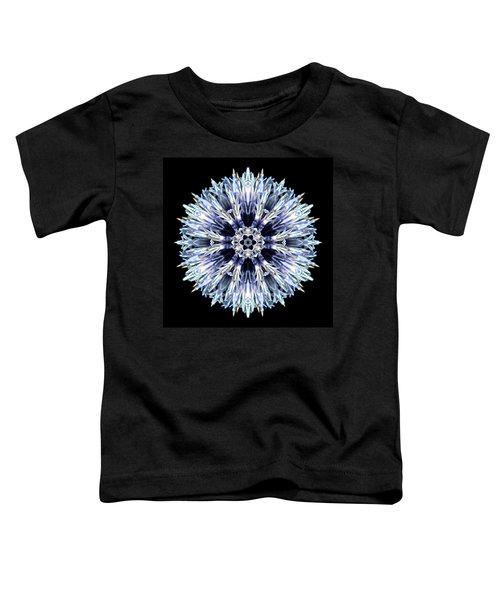 Blue Globe Thistle Flower Mandala Toddler T-Shirt
