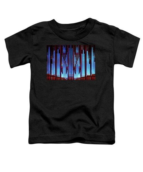Blue Organ Pipes Toddler T-Shirt