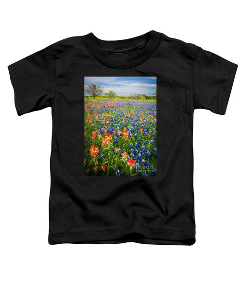 Bluebonnets And Prarie Fire Toddler T-Shirt