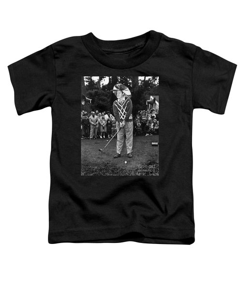 Bob Hope At Bing Crosby National Pro-am Golf Championship  Pebble Beach Circa 1955 Toddler T-Shirt