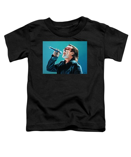 Bono Of U2 Painting Toddler T-Shirt by Paul Meijering