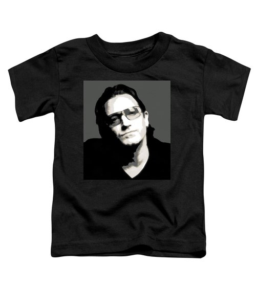 Bono Poster Toddler T-Shirt by Dan Sproul