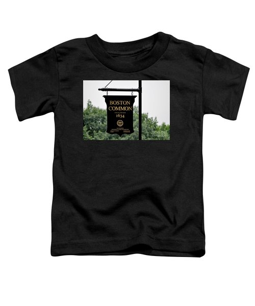Boston Common Ma Toddler T-Shirt