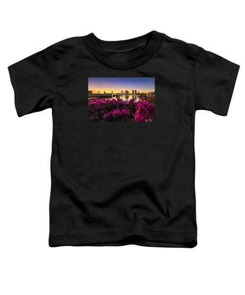 Bougainvillea On The West Palm Beach Waterway Toddler T-Shirt