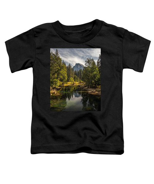 Bridge View Half Dome Toddler T-Shirt by Peter Tellone