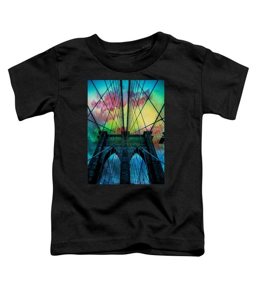 Psychedelic Skies Toddler T-Shirt by Az Jackson