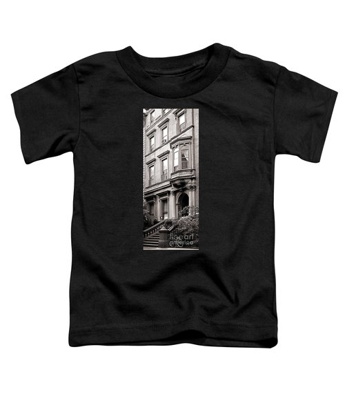 Brooklyn Heights -  N Y C - Classic Building And Bike Toddler T-Shirt