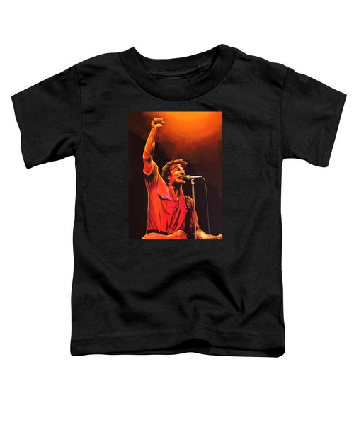 Bruce Springsteen Painting Toddler T-Shirt by Paul Meijering