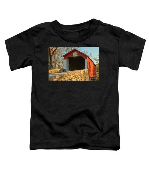 Bucks County Van Sant Covered Bridge Toddler T-Shirt