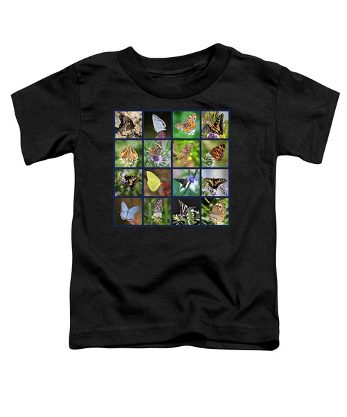 Butterflies Squares Collage Toddler T-Shirt