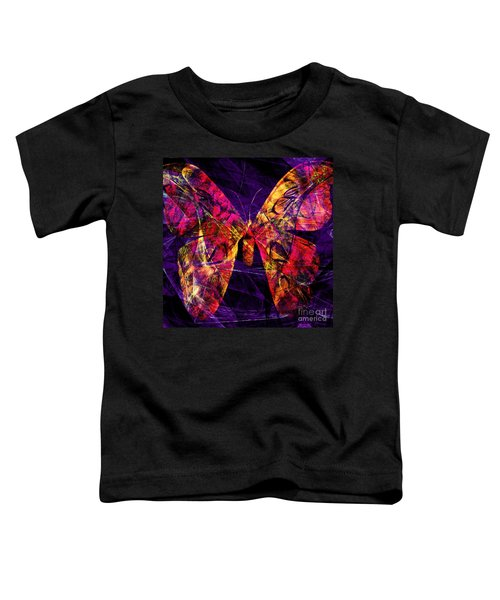 Butterfly In Abstract Dsc2977 Square Toddler T-Shirt