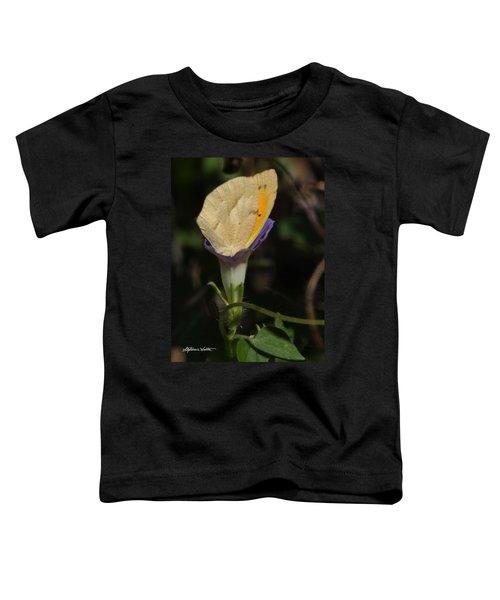 Butterfly In Flower Toddler T-Shirt