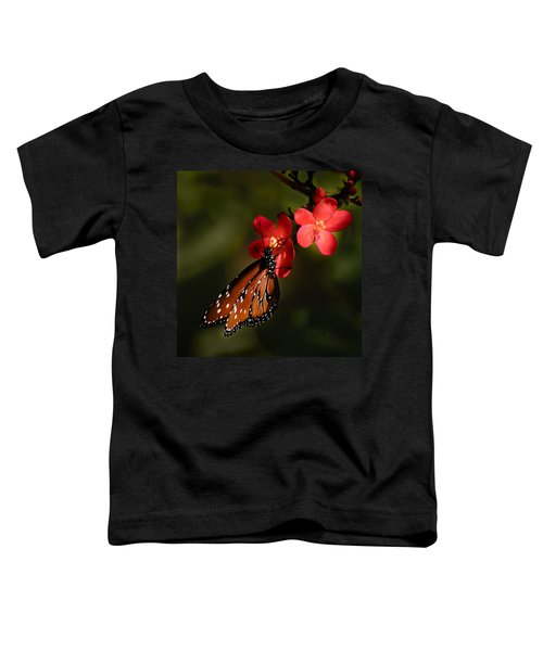 Butterfly On Red Blossom Toddler T-Shirt