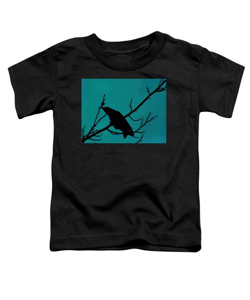 Call Of The Crow On Aqua 2 Toddler T-Shirt