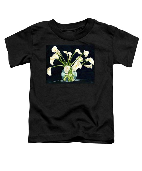 Calla Lilies In Vase Toddler T-Shirt