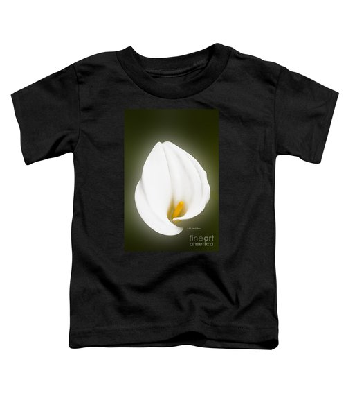 Calla Lily Flower Glow Toddler T-Shirt