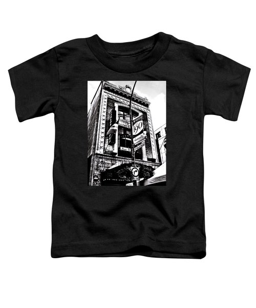 Toddler T-Shirt featuring the photograph Carlos And Pepe's Montreal Mexican Bar Bw by Shawn Dall