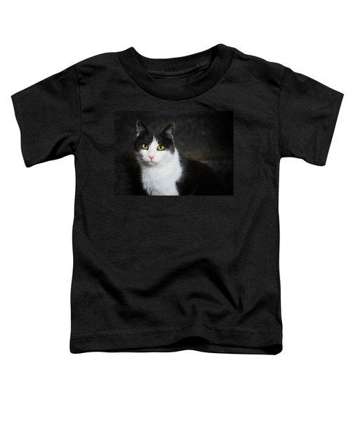 Cat Portrait With Texture Toddler T-Shirt