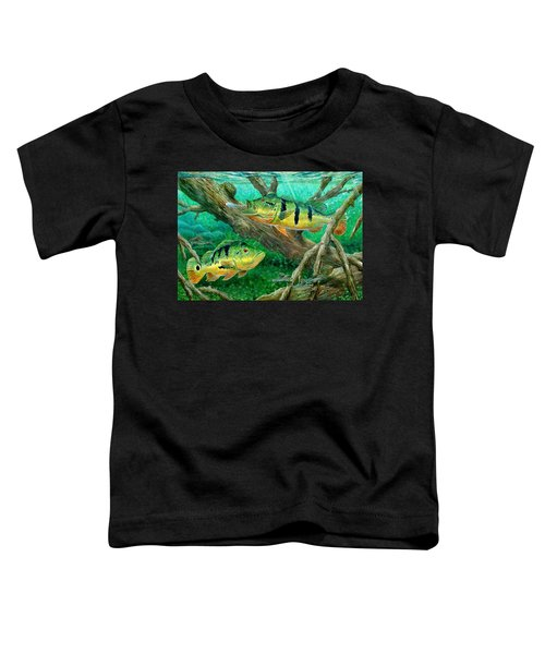 Catching Peacock Bass - Pavon Toddler T-Shirt