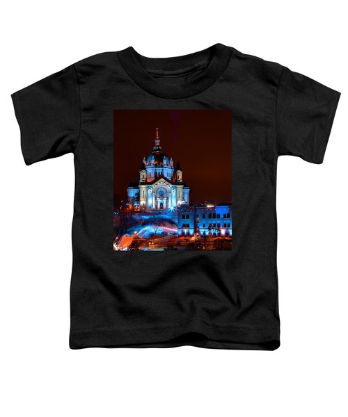 Cathedral Of St Paul All Dressed Up For Red Bull Crashed Ice Toddler T-Shirt