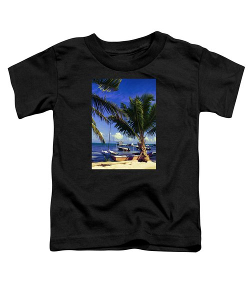 Caye Caulker Beachfront 2 Toddler T-Shirt
