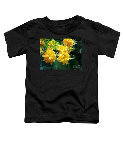 Centered Yellow Floral Toddler T-Shirt