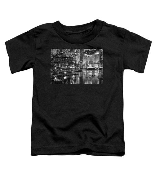 Central Park Lake Night Toddler T-Shirt