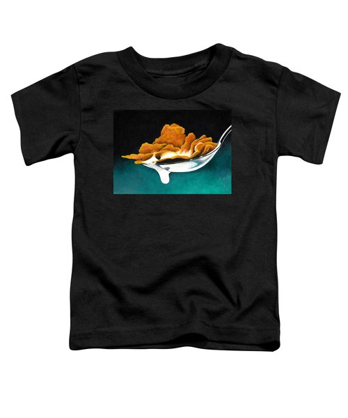Cereal In Spoon With Milk Toddler T-Shirt