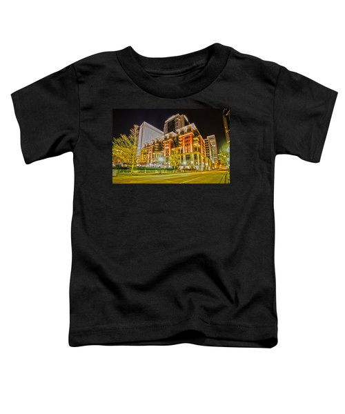 Charlotte City Skyline Night Scene Toddler T-Shirt