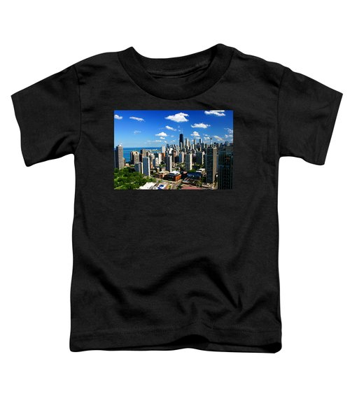 Chicago Buildings Skyline Clouds Toddler T-Shirt
