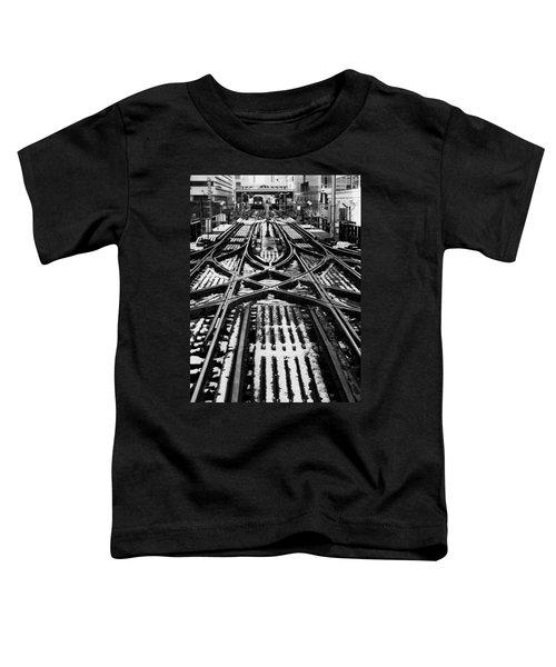 Chicago 'l' Tracks Winter Toddler T-Shirt