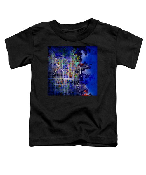 Chicago Map Blue Version Toddler T-Shirt