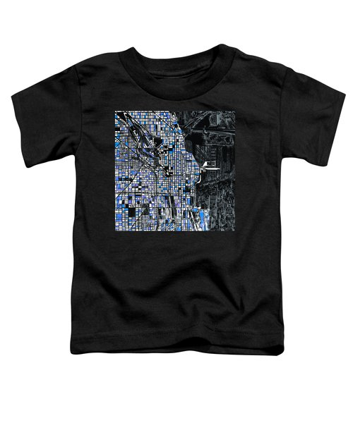 Chicago Map Drawing Collage 3 Toddler T-Shirt